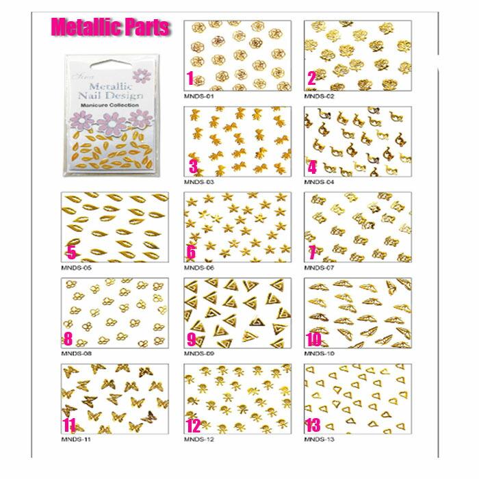 メタルパーツゴールド デザイン13種類