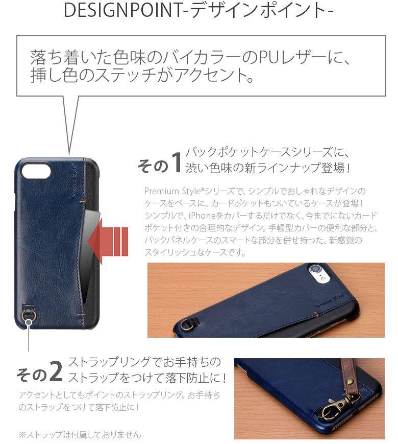 iPhone7 BACK POCKET CASE