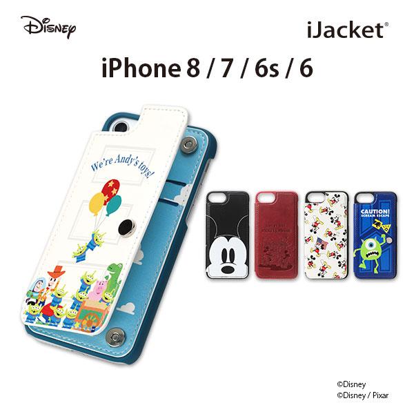 iJacket ケース ディズニーキャラクター iPhone 8/7/6s/6 バックフリップ 全5タイプ