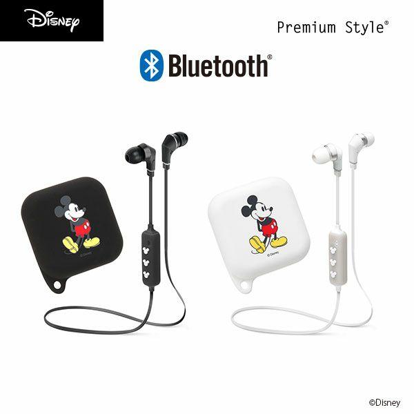 ディズニー キャラクター Bluetooth 4.1搭載 ワイヤレス ステレオ イヤホン シリコンポーチ付き