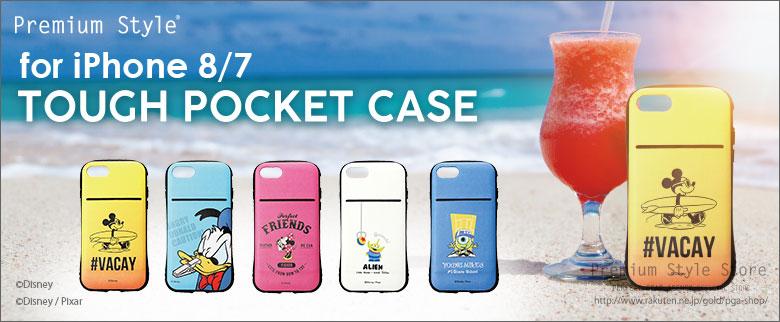 ディズニー iPhone8/7用 タフポケットケース