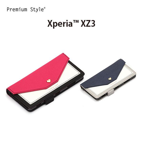 XperiaXZ3 手帳型ケース スマホケース ダブルフリップカバー スクエア型ポケット
