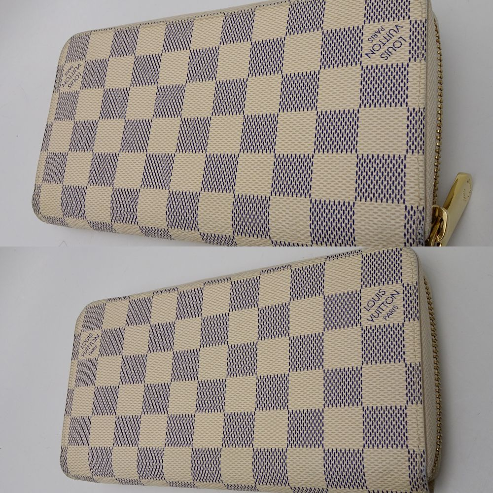 882a19eb1bfc6 Authentic LOUIS VUITTON Damier Azur Zippy Wallet N60019/ 043608 FREE  SHIPPING