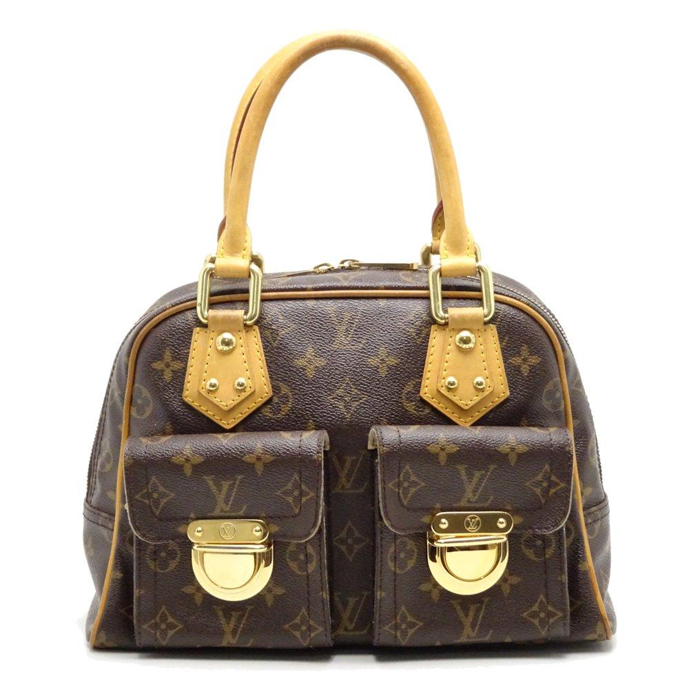 93cf9c39dd3e Auth LOUIS VUITTON Monogram Manhattan PM Handbag M40026 Brown  052637 FREE  SHIP
