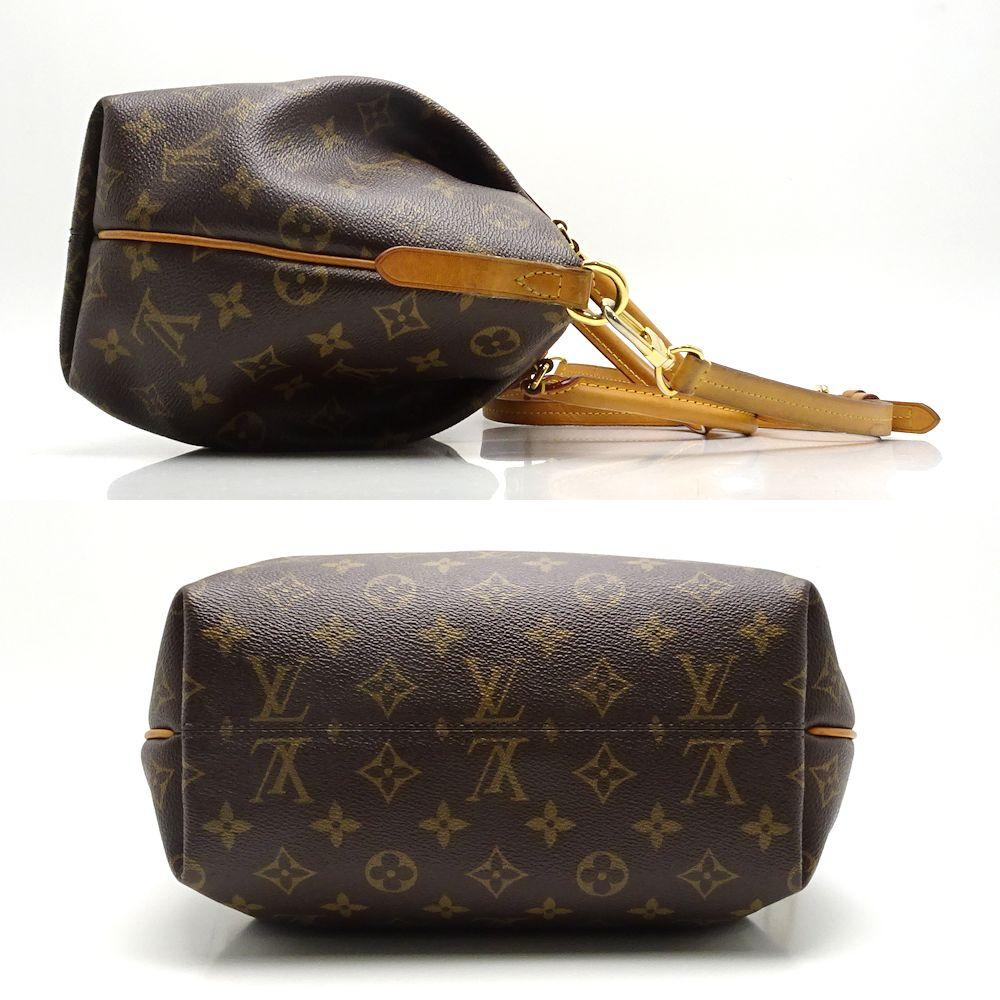 e6e9e4aee4a7 Authentic LOUIS VUITTON Monogram Turenne PM 2WAY Handbag M48813 Brown   052367