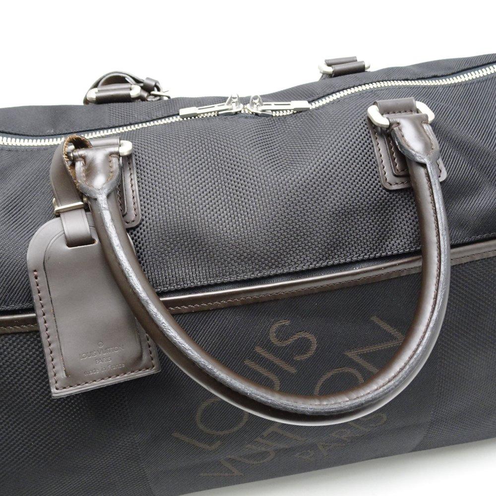 2daf09e1d59 Authentic LOUIS VUITTON Damier Geant Albatross Boston Bag M93601 Noir   052799