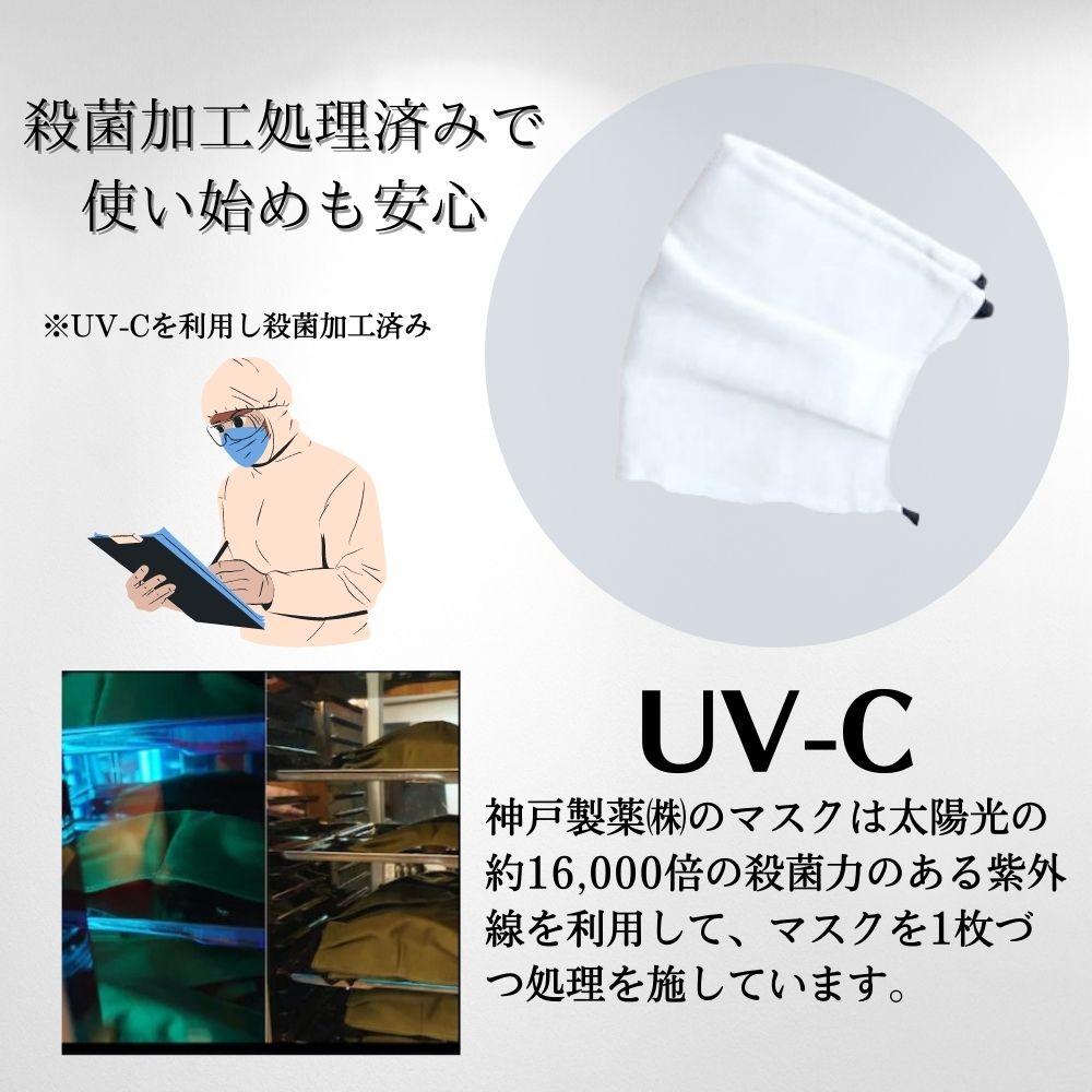pide018 【日本製】麻+綿素材の布マスク N95規格フィルター4枚付 おしゃれ秋冬マスク【リネンマスク】-梱包前に殺菌処理の案内