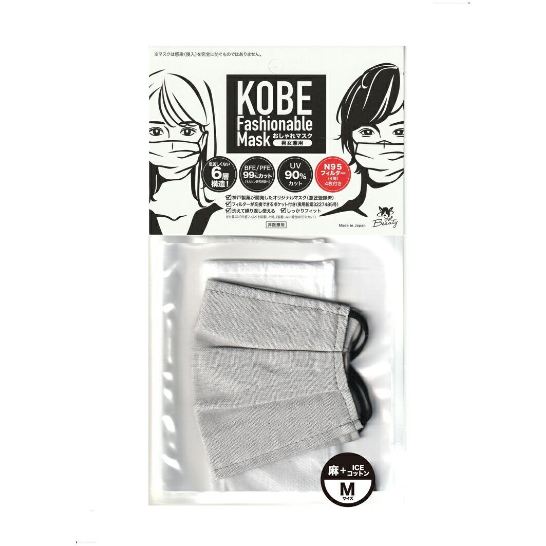 pide018 【日本製】麻+綿素材の布マスク N95規格フィルター4枚付 おしゃれ秋冬マスク【リネンマスク】-マスクのカラーバリエーション ベージュ・ブラウン
