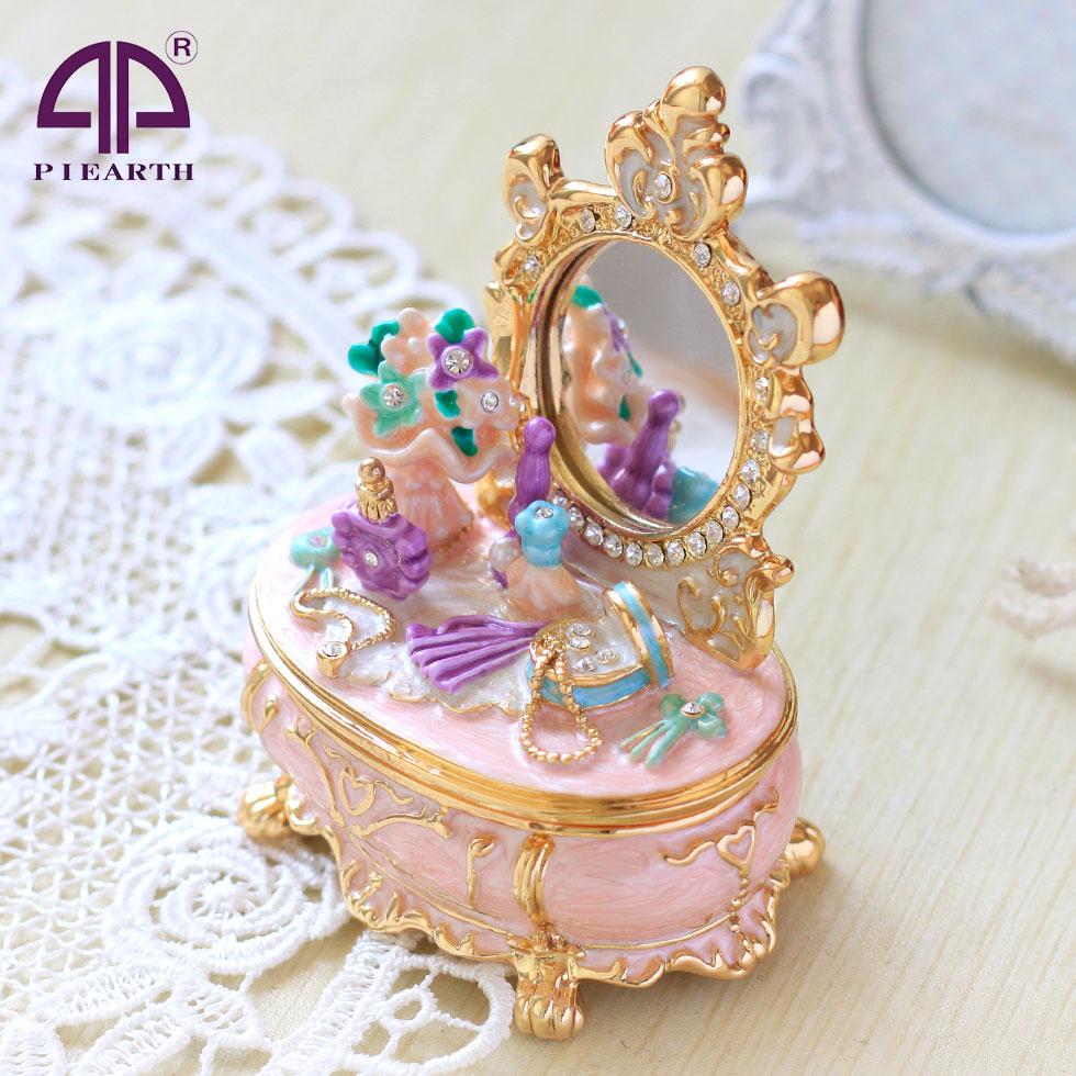 楽天市場】ジュエリーボックス ピンクドレッサー ピィアースの 宝石箱