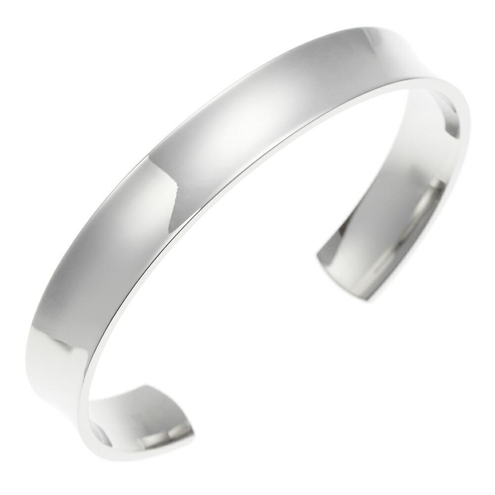 バングル シンプル シルバー サージカルステンレス 低アレルギー メンズ ブレスレット 腕輪 カジュアル プレゼント ギフト 送料無料