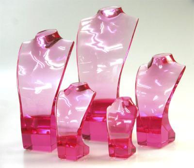 アクリルネックレストルソーピンク ペンダントスタンド ディスプレイ 商品を華やかに魅せる高品質送料無料