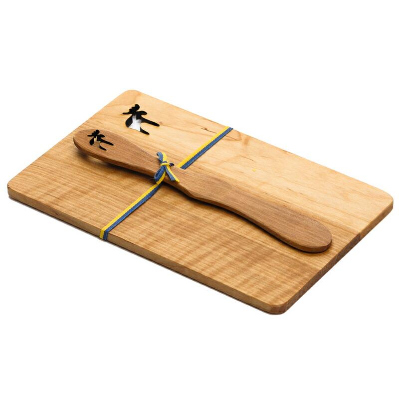木製プレート+バターナイフセット ヘラジカ