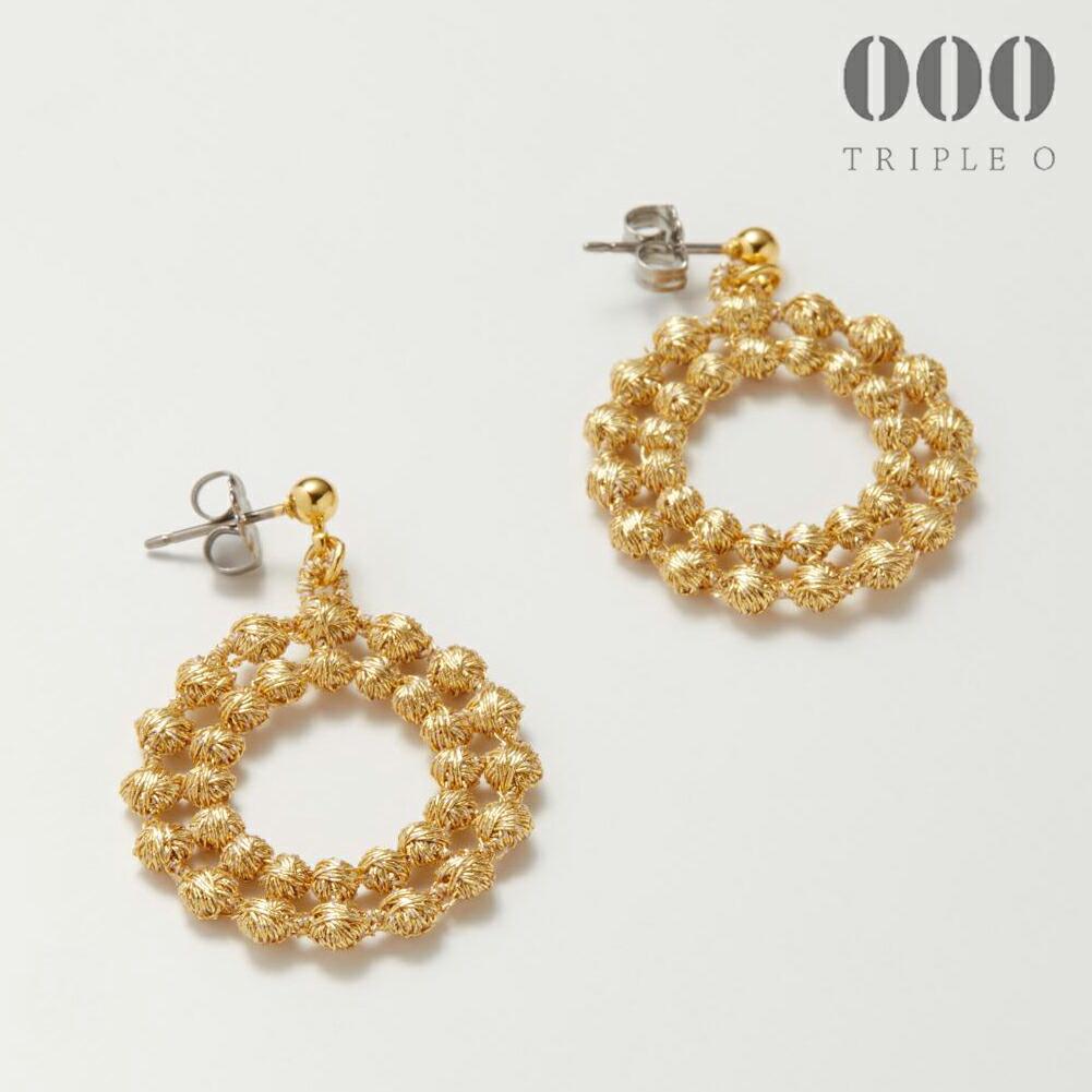 000/ドイリー(ゴールド)ピアス