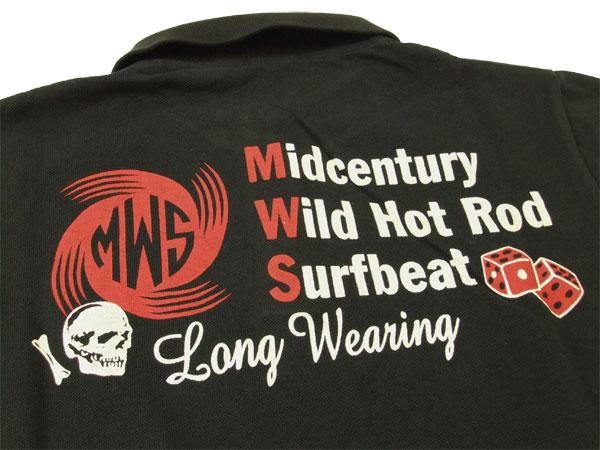 MWS ポロシャツ mws定番ロゴ アメカジPOLO 159902