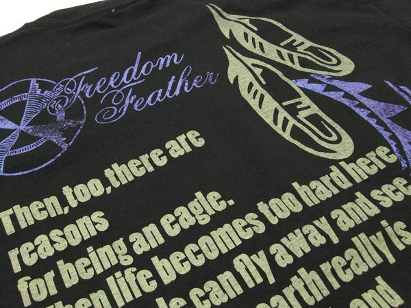 ジェムストーン Tシャツ gemstone インディアンフェザー ネイティブ 半袖tee gm5001