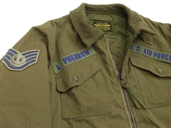 フェローズ ミリタリーフライトジャケット pherrows 12w-cwu-7/p-p