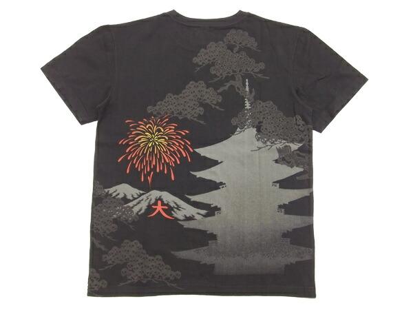 クロップドヘッズ Tシャツ 蝙蝠花火 cropped heads 和柄 メンズ 半袖tee 1311-09