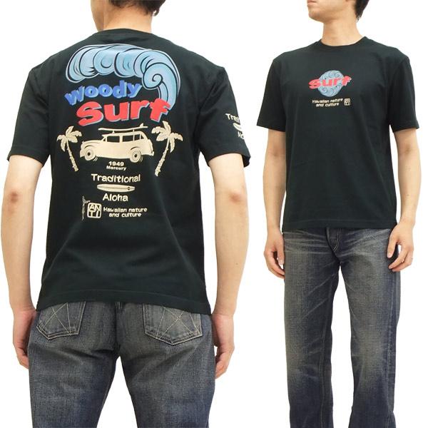 ANTI アンチ Tシャツ ATT-143 Woody Surf サーフ エフ商会 メンズ 半袖tee