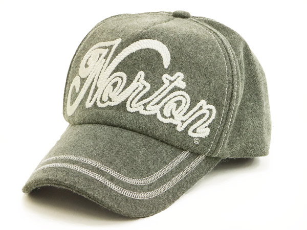 ノートンモーターサイクル 縄風刺繍フエルトキャップ 43N8706 Norton Motorcycle メンズ 帽子