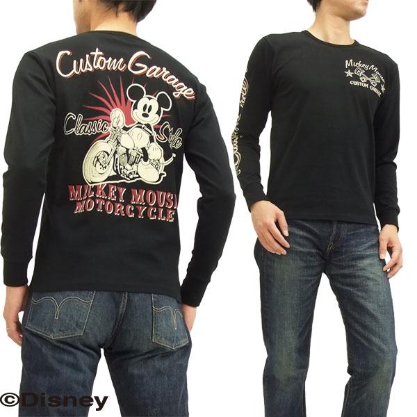 ミッキーマウス 長袖Tシャツ 595510 バイク柄 ローブローナックル メンズ ロンtee