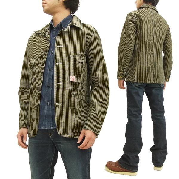 ヘッドライト ブラウンヒッコリー ワークコート HD13017 HEADLIGHT 東洋エンタープライズ メンズ ジャケット