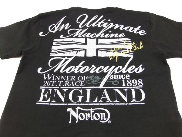 ノートンモーターサイクル Tシャツ 62N1003 Norton Motorcycle 刺繍+Pt. メンズ 半袖tee