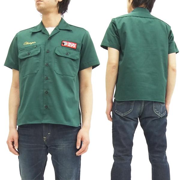 サムライジーンズ ワークシャツ SMTC16 自動車倶楽部 メンズ 半袖シャツ