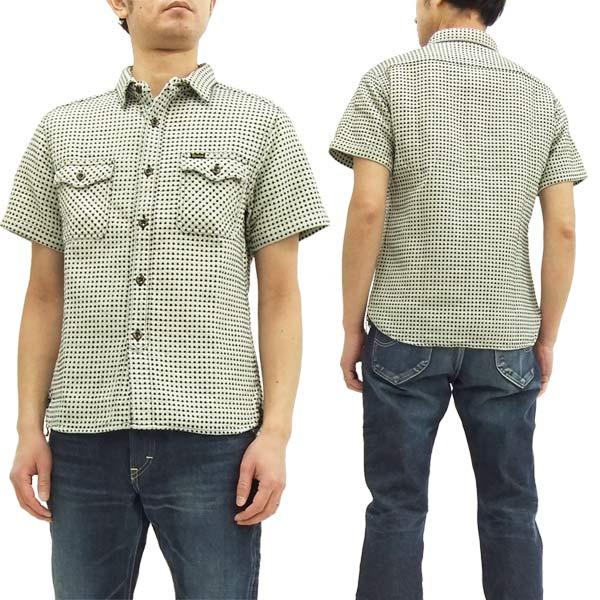 ステュディオ・ダルチザン 刺し子 ドビー ワークシャツ 5587 メンズ 半袖シャツ