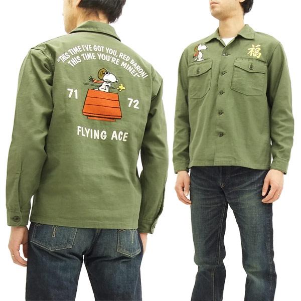 トイズマッコイ シャツジャケット ピーナッツ スヌーピー tms1708 メンズ 長袖シャツ