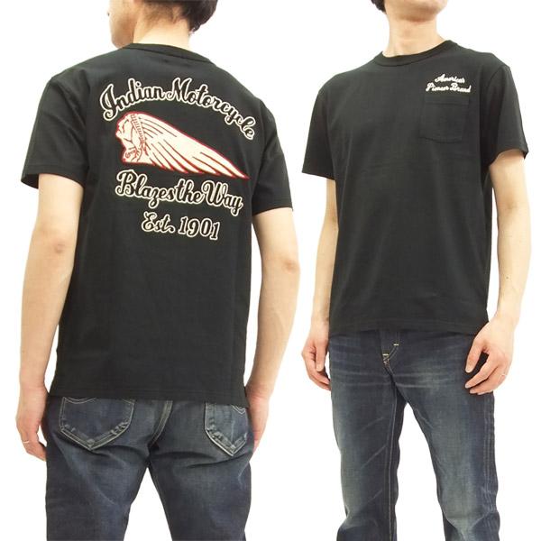 インディアンモーターサイクル im77917 tシャツ 刺繍 東洋エンタープライズ メンズ 半袖tee