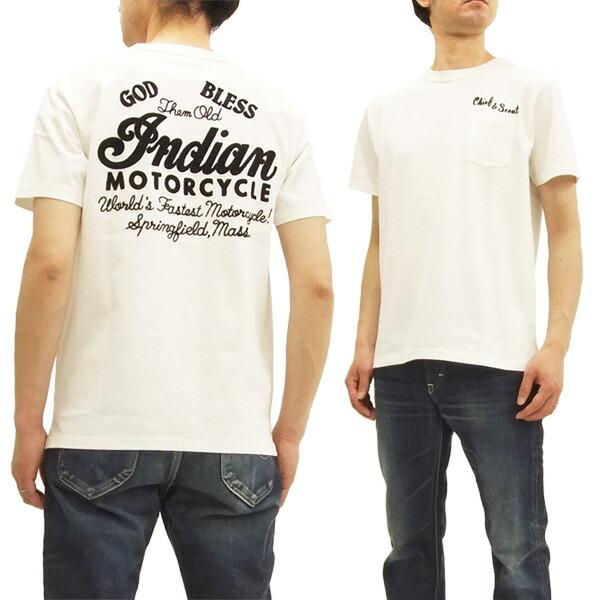 インディアンモーターサイクル im77918 tシャツ 刺繍 東洋エンタープライズ メンズ 半袖tee