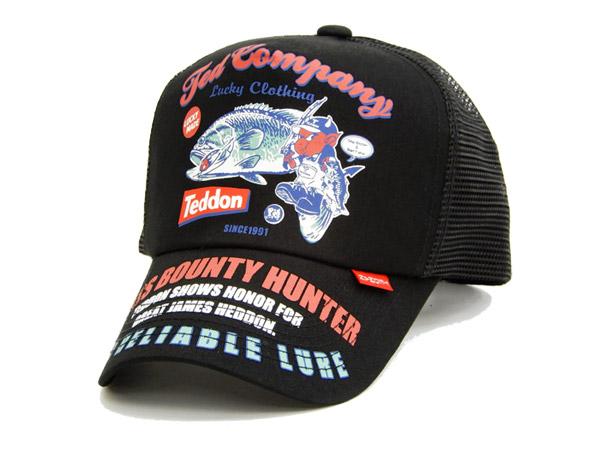 テッドマン tdc-7400 メッシュキャップ tedman エフ商会 バス釣り柄 メンズ 帽子