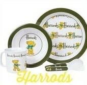 出産祝いにハロッズの可愛いベビー食器セット【Harrods】ハロッズ ベビーベア食器セット