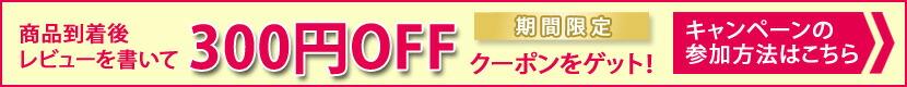 レビューを書いて300円OFF!