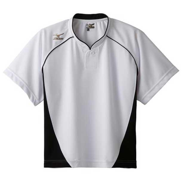 グローバルエリート ベースボールシャツ/ハーフボタン/小衿 レディース 01ホワイト×ブラック MIZUNO ミズノ 野球 ウエア ユニフォームシャツ 12JC6L70 12jc6l7001 野球ウエア