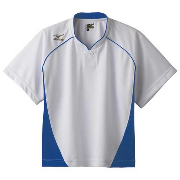 グローバルエリート ベースボールシャツ/ハーフボタン/小衿 レディース 16ホワイト×パステルネイビー MIZUNO ミズノ 野球 ウエア ユニフォームシャツ 12JC6L70 12jc6l7016 野球ウエア