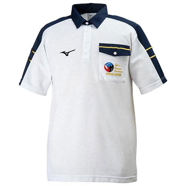 ミズノ v2jc806003 MIZUNO バレーボールウエア レフェリーシャツ 半袖 バレーボール ウエア レフリーウエア V2JC8060