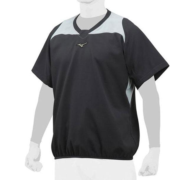 ミズノ 野球ウエア GE Vネックジャケット/半袖 MIZUNO 野球 ウエア トレーニングジャケット 12JE8V80 12je8v8009