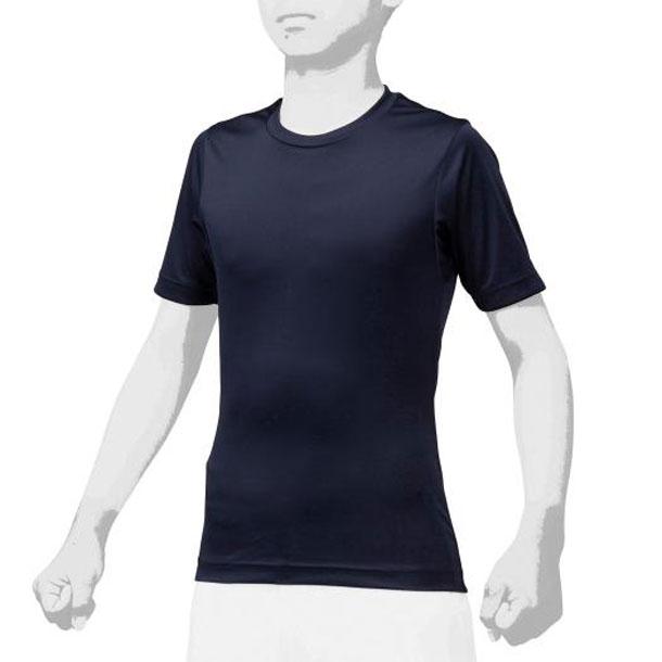 ミズノ 12ja0q1414 MIZUNO 野球ウエア ローネック/半袖 2枚組 ジュニア 野球 アンダーシャツ 丸首半袖 12JA0Q14