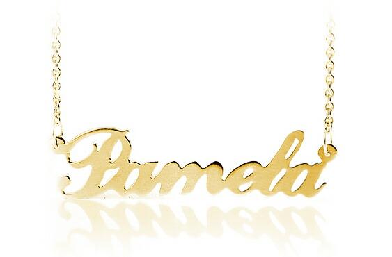 Pixy Jewelry Pamela Anderson Letter Name K10 K14 K18k