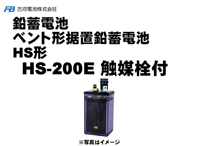 【受注生産品】HS200E 触媒栓付【古河電池】据置鉛蓄電池HS形(バッテリー) 2V 1