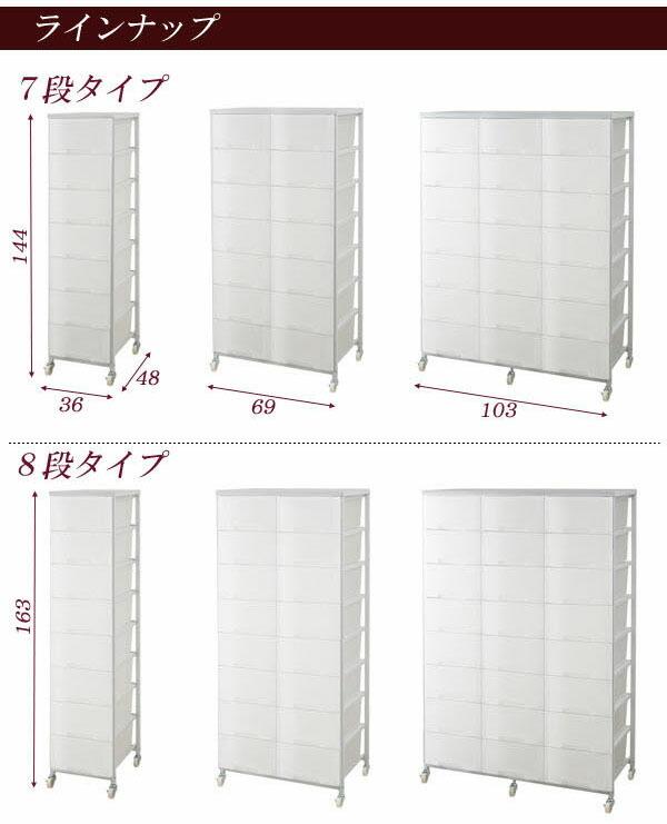 【送料無料】『大量収納プラスチックチェスト 1列×7段』 チェスト 1