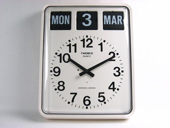 パタパタカレンダークロック アナログ式_0