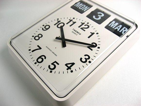 パタパタカレンダークロック アナログ式_1