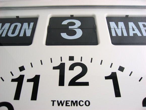 パタパタカレンダークロック アナログ式_4
