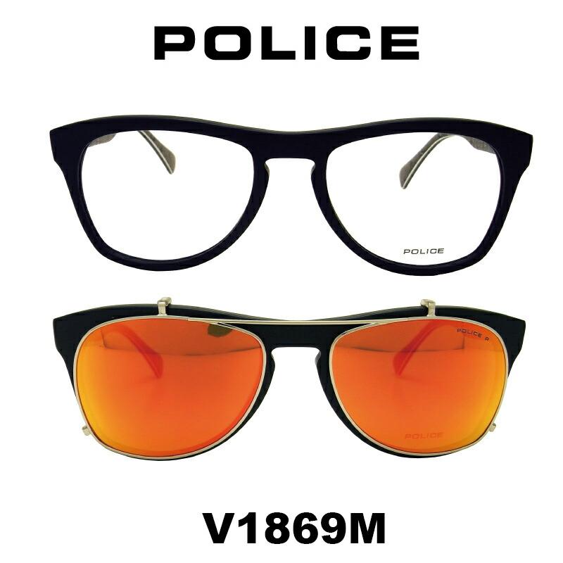 f9864062f538 POLICE(ポリス) ダテメガネ フレーム ネイマールモデル M2 V1869M 703人気のセルフレーム  クリアレンズ装着済み価格PCレンズまたは度数ありレンズも対応します【参考 ...