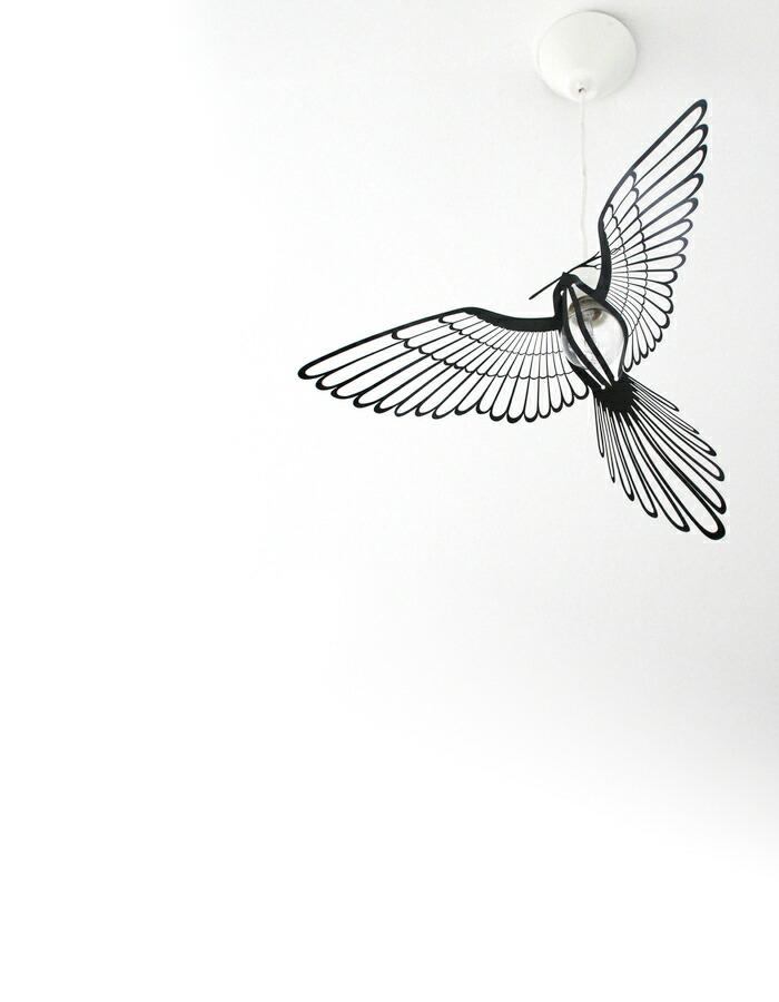部屋の中に羽ばたく鳥。BIRD LIGHT