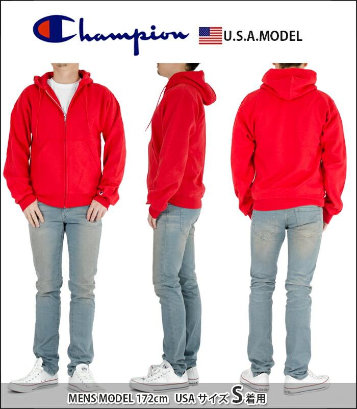 チャンピオン パーカー ジップパーカー メンズ レディース USAモデル 裏起毛
