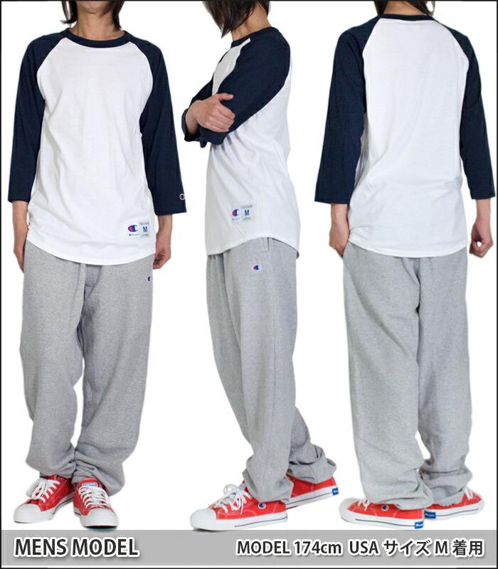 チャンピオン 7分袖 Tシャツ メンズ レディース CHAMPION 無地 ラグラン ベースボール 大きいサイズ Tシャツ アメカジ スポーツ ストリート ダンス 衣装 USAモデル ブランド ファッション 黒 ブラック 赤 グレー ネイビー 青 ホワイト 白