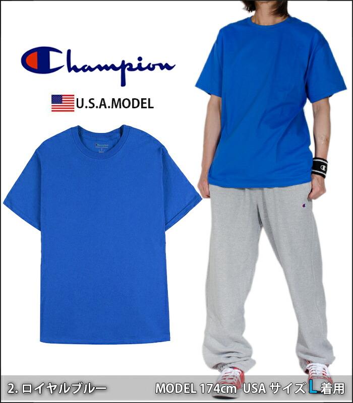 チャンピオン Tシャツ CHAMPION T-SHIRTS メンズ レディース 半袖 無地 USAモデル 大きいサイズ オーバーサイズ 袖ロゴ ホワイト 白 ブラック 黒 グレー ダンス 衣装 S M L XL LL 2XL t42